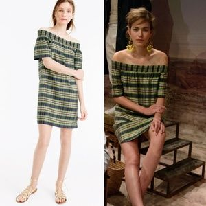 J. Crew Collection off-the-shoulder Silk dress